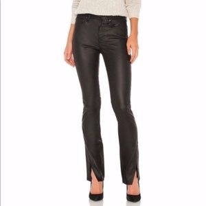 Free People Spellbound Coated Faux Leather Jeans Size 32 NWT